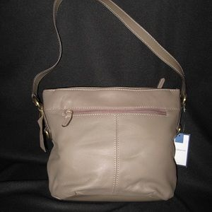 Croft & Barrow Leather Mushroom Soft Angel Bag New